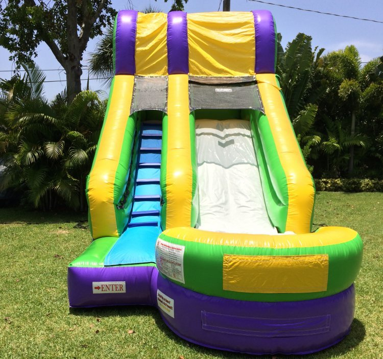 14' Splash Slide (WET/DRY) *(22L 14W 14H)