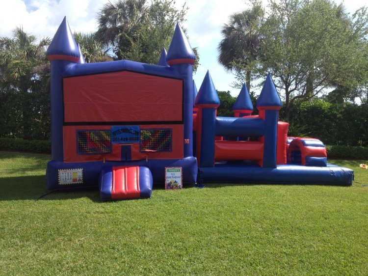 320in20120obstacle202 59822994 big **3 IN 1 OBSTACLE RED with 18FT Obstacle Course *(32L 17W 1