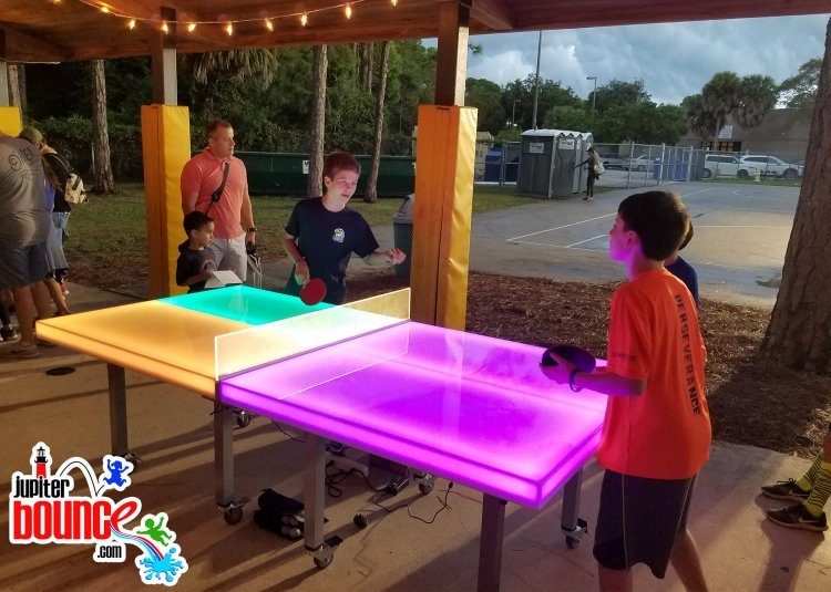 LED Ping Pong Table (8L x 4W) (Must be placed undercover)