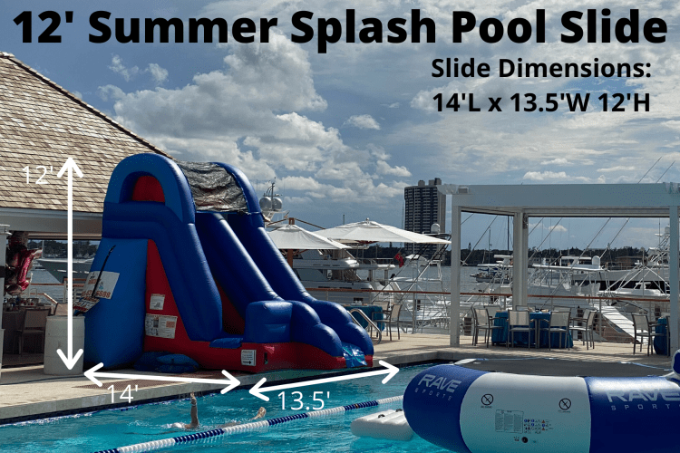 12' Summer Splash Pool Slide (14L 13.5W 12H)