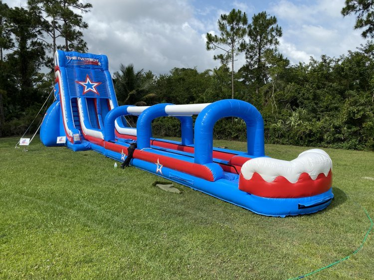 patriot 246461808 big **30' Patriot Double Lane Slide (70L 21W 30H)