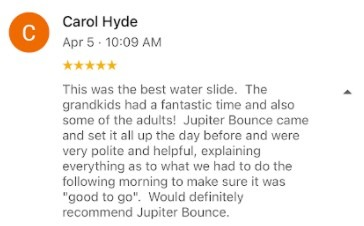 Rave review from Carol Hyde after her event