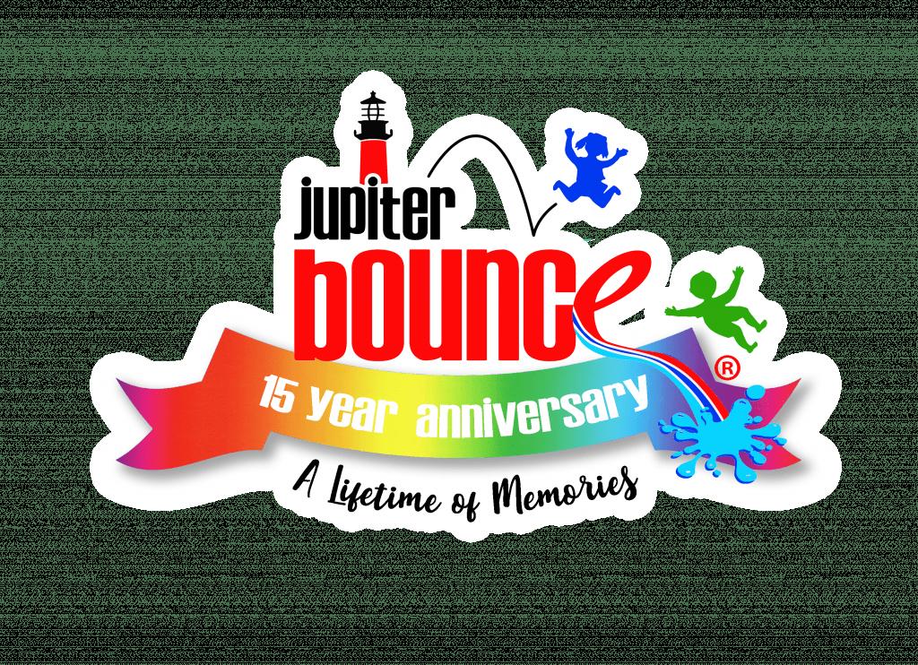Jupiter Bouce 15 year badge rainbow NEW 50' Rio Run Obstacle WET/DRY